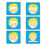Child's Fever icon set Royalty Free Stock Photography