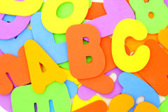 Child's foam letter background Stock Image
