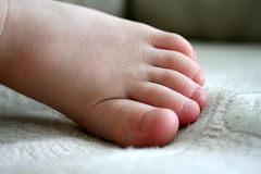 Child's Foot Stock Photography
