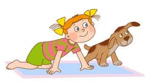 Child's gymnastics Stock Image