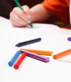 Child's hand drawing Royalty Free Stock Photo