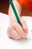 Child's hand drawing Stock Images
