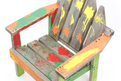 Child's hand painted lawn chair Royalty Free Stock Image
