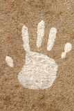 Child's Hand Print Royalty Free Stock Images