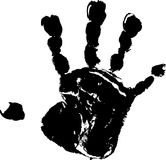 Child's handprint Stock Images