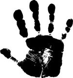 Child's handprint 2 Royalty Free Stock Image