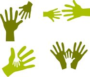 Child's Hands and Adult Hands - 2 Royalty Free Stock Images