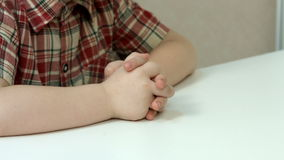 Child's hands closeup stock footage