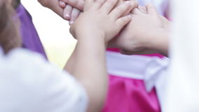 Child's hands stock footage