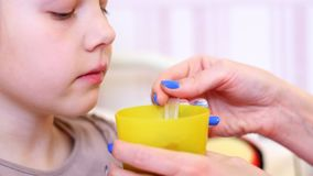 Child`s health is most important for parents stock video