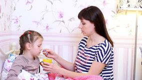 Child`s health is most important for parents stock footage