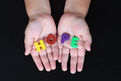 Child's hope Royalty Free Stock Image