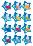 Child's horoscope on the signs of zodiac Royalty Free Stock Images