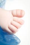 Child's little foot Stock Photo