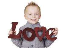 A Child's message of Love Stock Photos