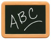 Child's Mini Chalkboard - A B C Royalty Free Stock Photo