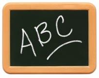Child's Mini Chalkboard - A B C Royalty Free Stock Photo