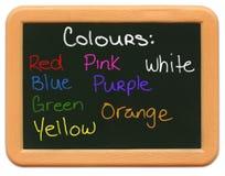 Child's Mini Chalkboard - Colours stock photo