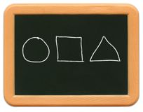 Child's Mini Chalkboard - Shapes Stock Images