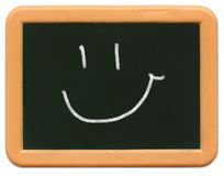 Child's Mini Chalkboard - Smiley Royalty Free Stock Images