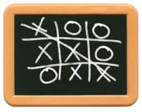 Child's Mini Chalkboard - Tic Tac Toe Royalty Free Stock Photography