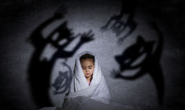 Child's nightmare Stock Image