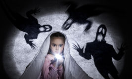 Child's nightmare Stock Images