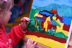 Child's painting Royalty Free Stock Photography
