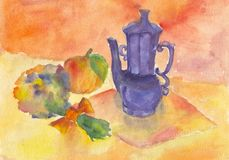 Child's painting of a still life Royalty Free Stock Images
