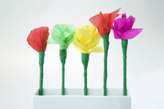 Child's paper flower Stock Image