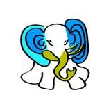 Child s picture. Blue elephant. Child s picture. Blue elephant Handmade Stock Photos