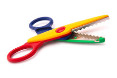 Child S Pinking Shears Royalty Free Stock Photo