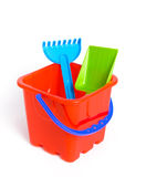 Child's plastic watering can Royalty Free Stock Image