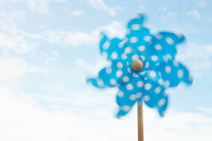 Child's plastic windmill Stock Image