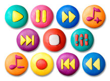 Child's plasticine buttons. Royalty Free Stock Photo