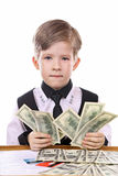 Modern children's game - the banker, financier Stock Photos
