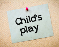 Child's play Royalty Free Stock Photos