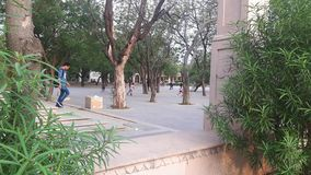 Child`s playing area a big ground Big gate jawahar circle sanganer jaipur stock photo