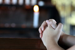 A Child's Praying Hands Royalty Free Stock Photography