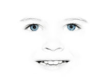 Child's pretty face Stock Image