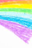 Child's rainbow crayon drawing Stock Image