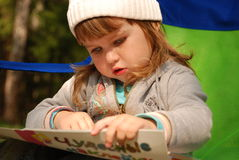 Child's reading Royalty Free Stock Photography