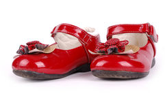 Child's red shoe Royalty Free Stock Photo