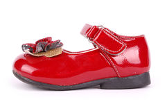Child's red shoe Stock Photography