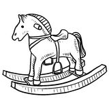 Child's rocking horse sketch Stock Image