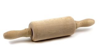 Child's rolling pin Royalty Free Stock Images