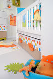 Child's room. With furniture and toys stock images