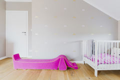 Child`s room in the attic Stock Photos