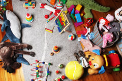 Child's room- view from above Royalty Free Stock Images