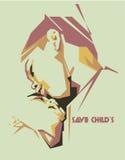 Child's sad vector portrait/eps Stock Images